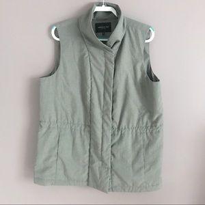 Lafayette 148 New York Full Zip Vest Gray Size XL